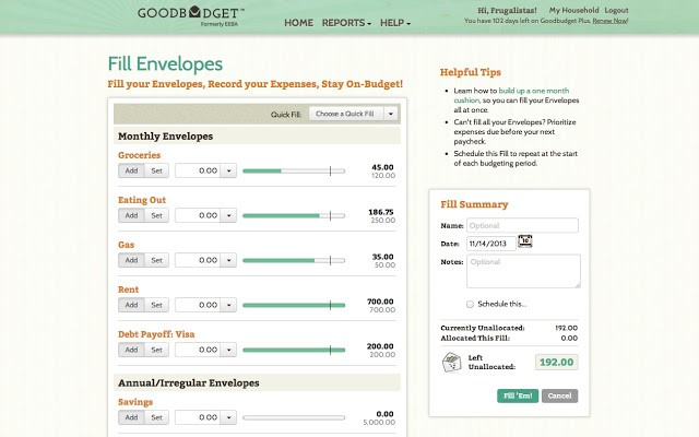 goodbudget software