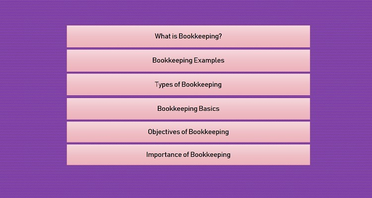 basics of bookkeeping